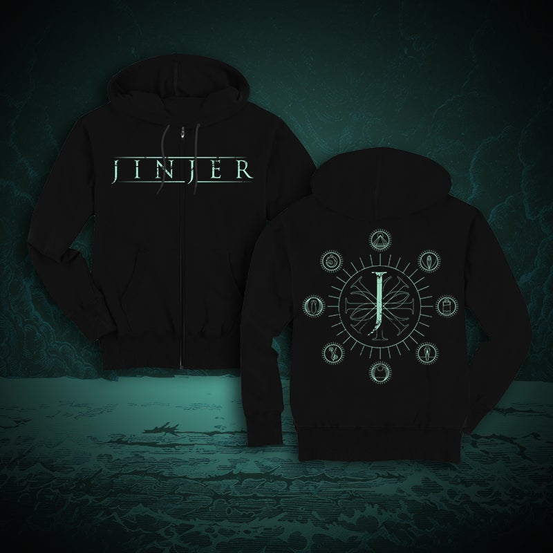 Image of JINJER - Jeometry - ZIPPER HOODY *PRE-ORDER*