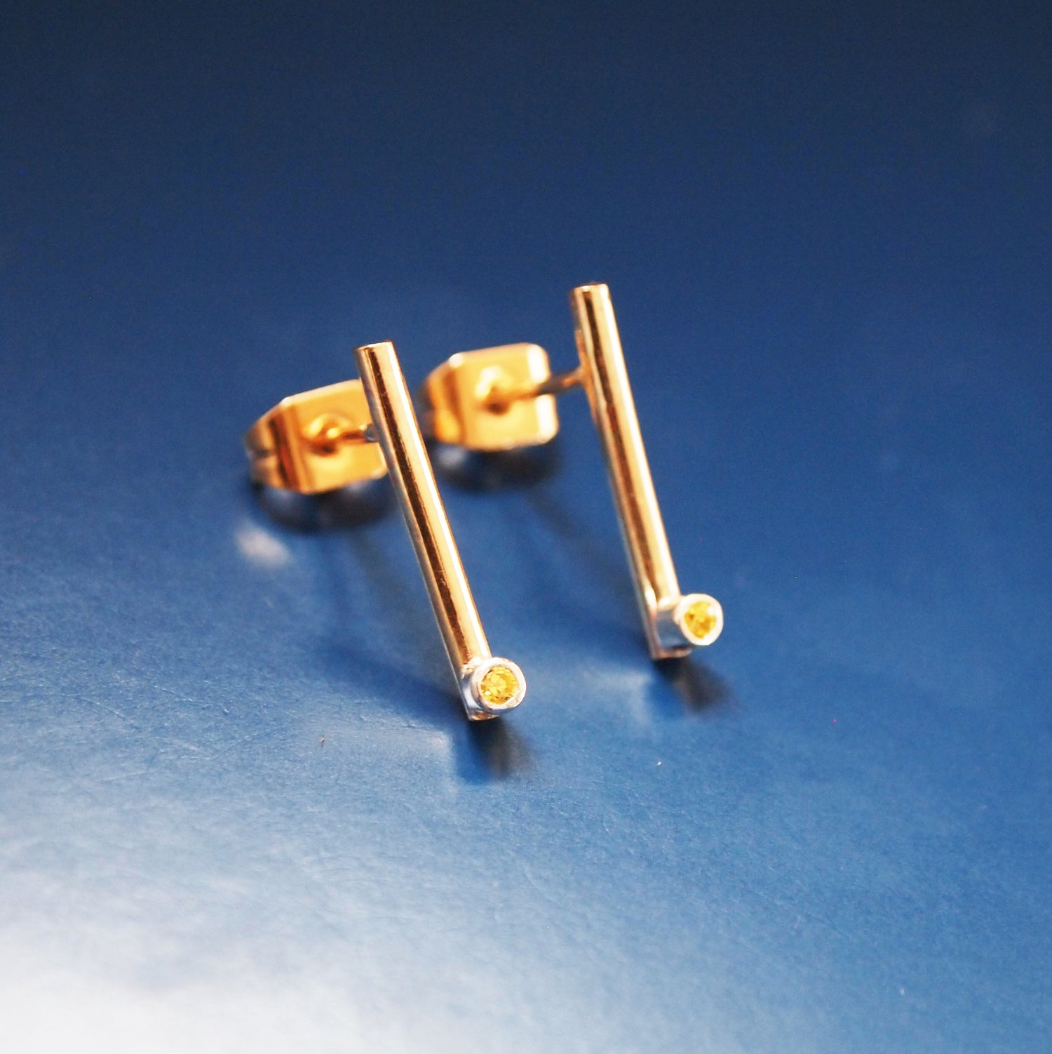 Image of Gold Silver Bar Studs