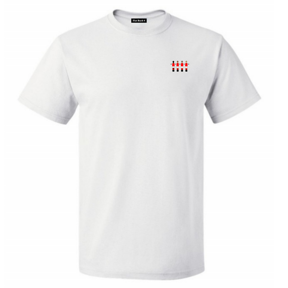 Kids Embroidered Club Crew Tees - White