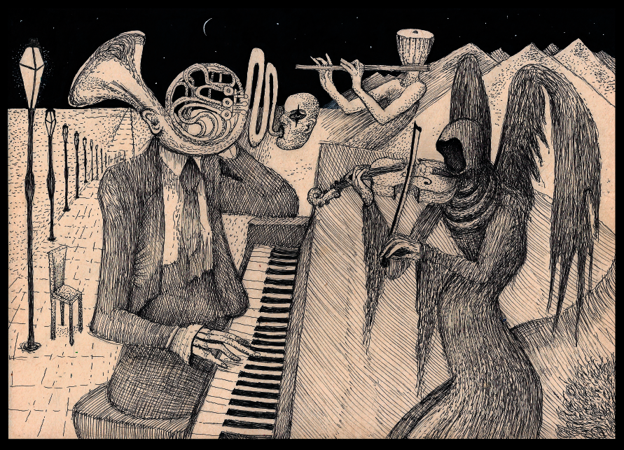 Image of Absolute Death Original Drawing by Anton-Constantin