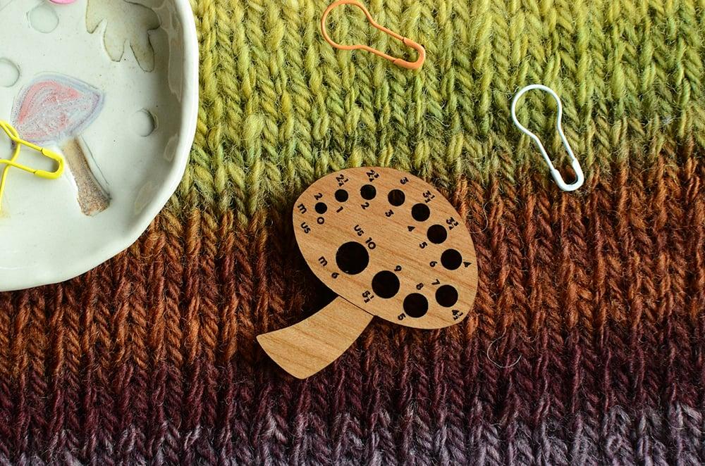 Image of Toadstool Knitting Needle Gauge