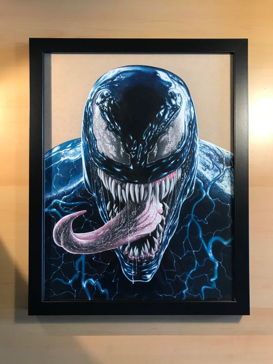 Image of Venom Original Drawing (Framed)