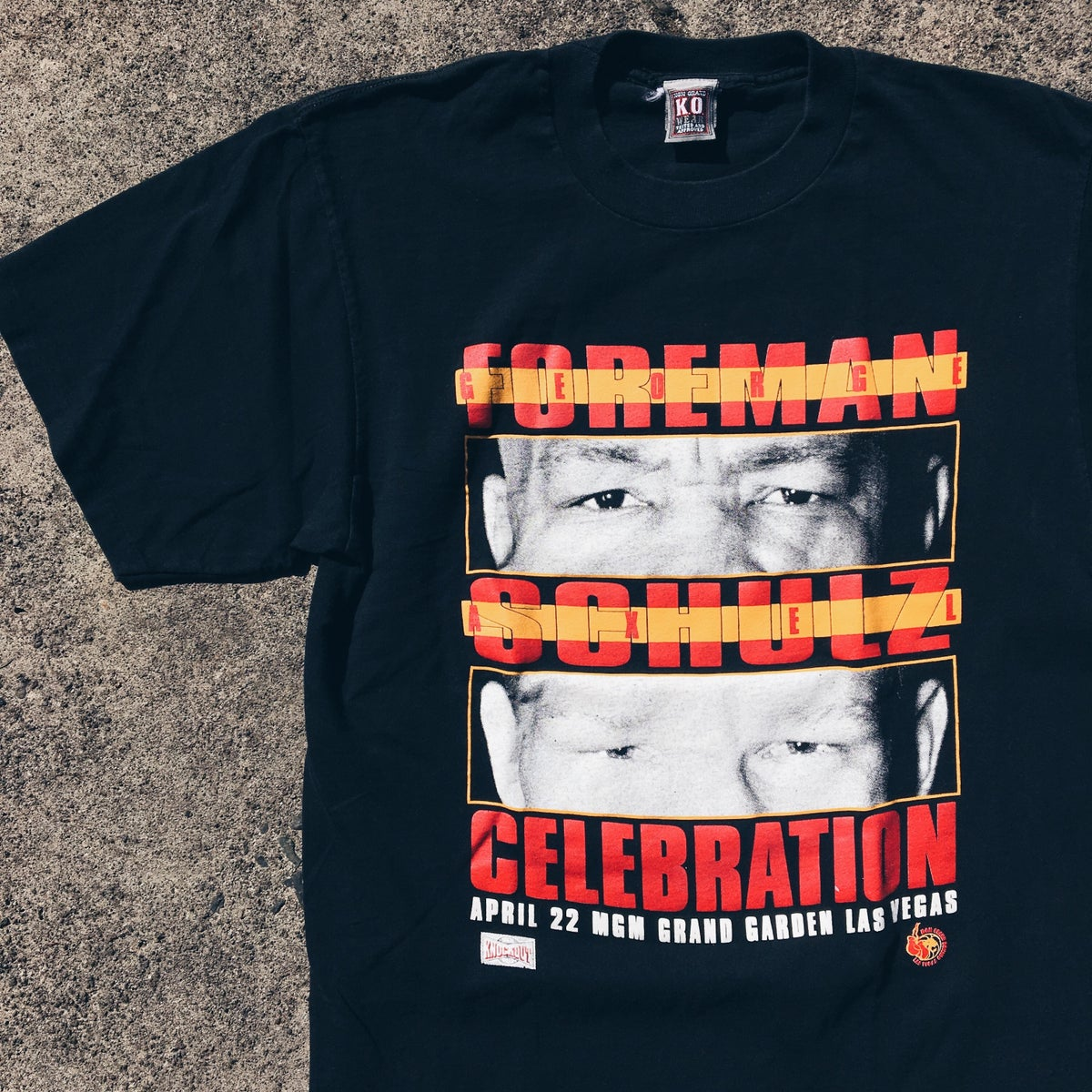 Image of Original 1995 George Foreman Boxing Tee.