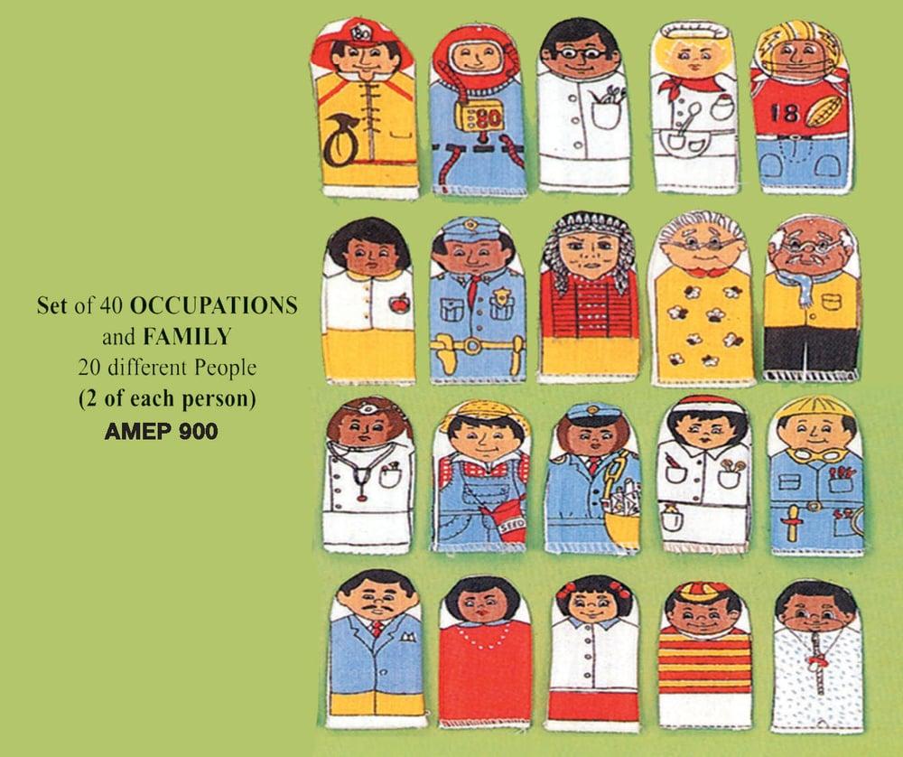 Image of Occupants & Family Finger Puppet Set