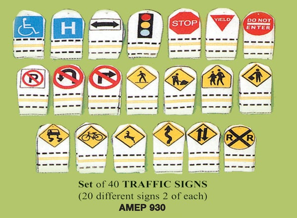 Image of Traffic Signs Finger Puppet Set