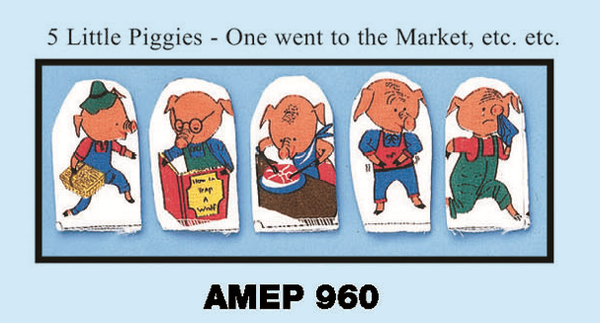 Image of 5 Little Piggies Finger Puppet Set