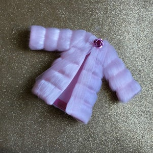 Image of LoungingLinda Panelled Faux Fur ~ Baby Pink