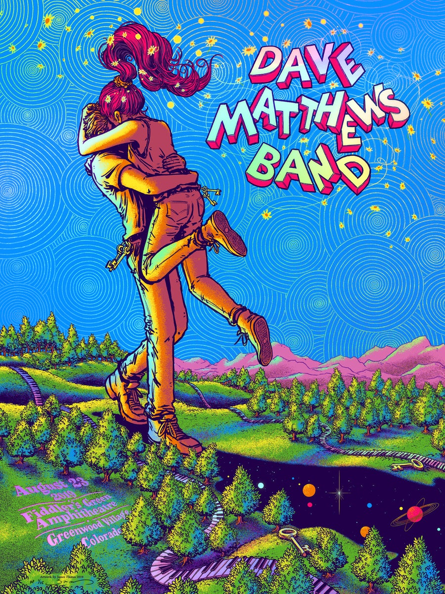 Image of Dave Matthews Band - Fiddler's Green 2019 - Rainbow HoloFoil