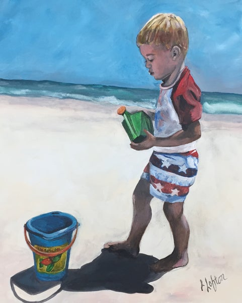 "Image of LL0018 ""Gordon Goes to Jax Beach"" Original Acrylic"