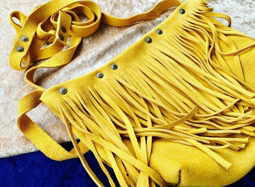 Image of  Fringed Suede Handbag