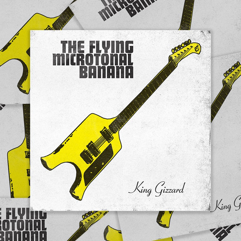 "Image of ""The Flying Microtonal Banana"" • 2.75""x2.75"" stickers"