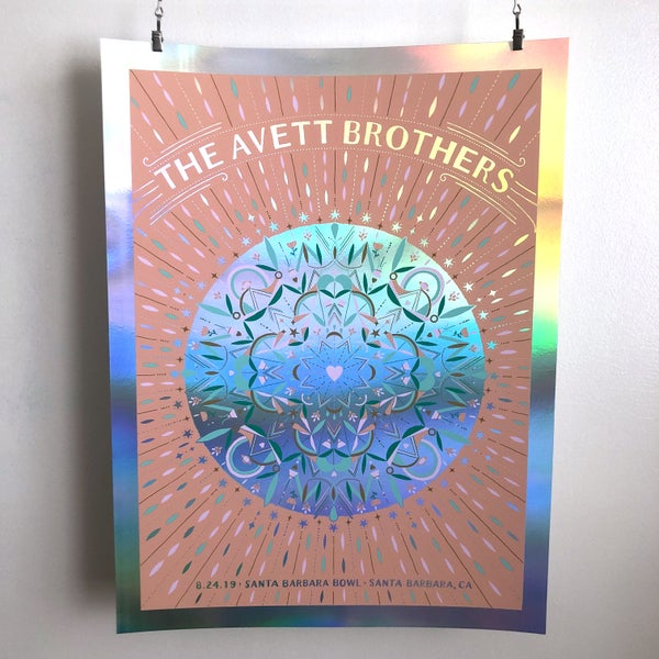 Image of The Avett Brothers Santa Barbara 8.24.2019 Foil Variant