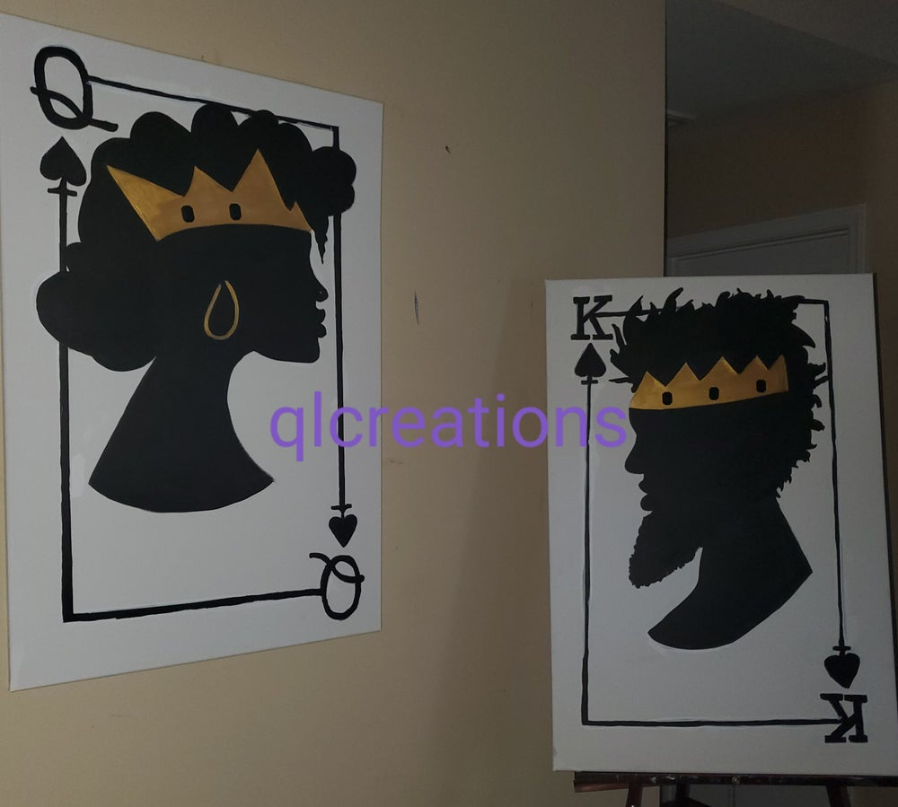 Image of King and Queen of Spades (set)