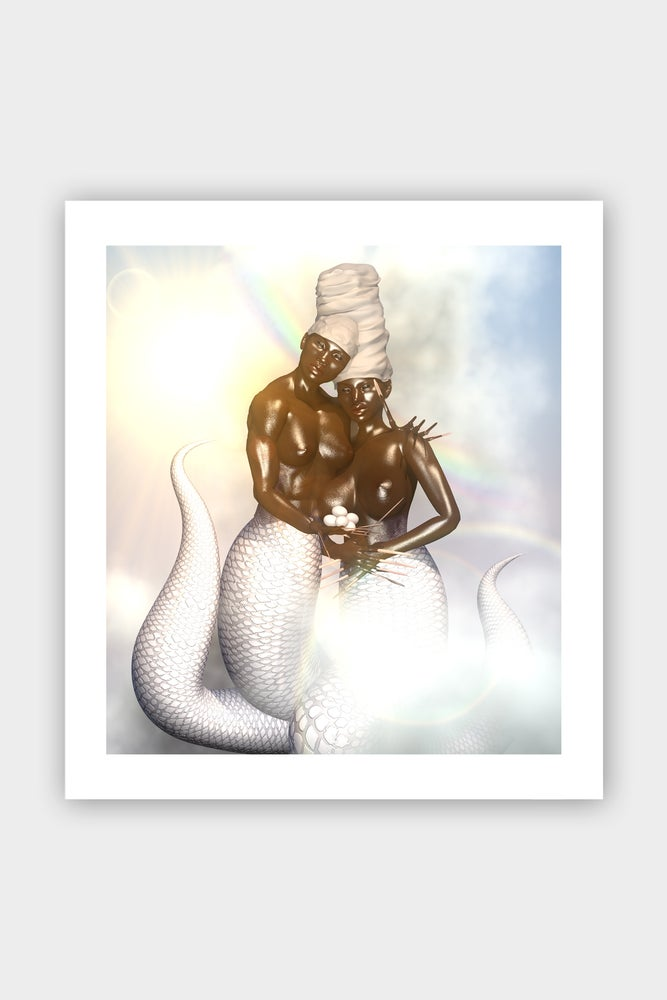 "Image of ""Damballa ak Ayida Weddo: The Lovers"" Print"
