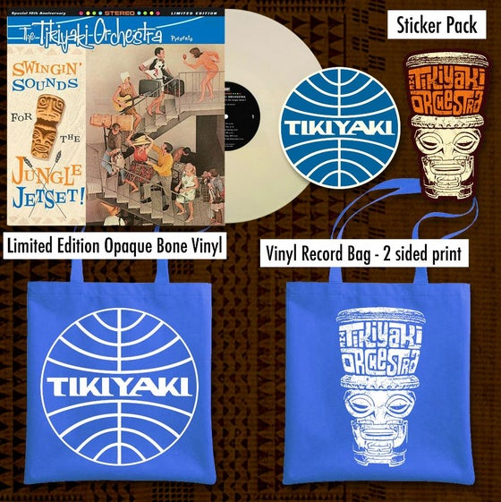 "Image of OFFICIAL - TIKIYAKI ORCHESTRA - *PRE-ORDER * ""SWINGING' SOUNDS FOR THE JUNGLE JETSET"" LP BUNDLE"