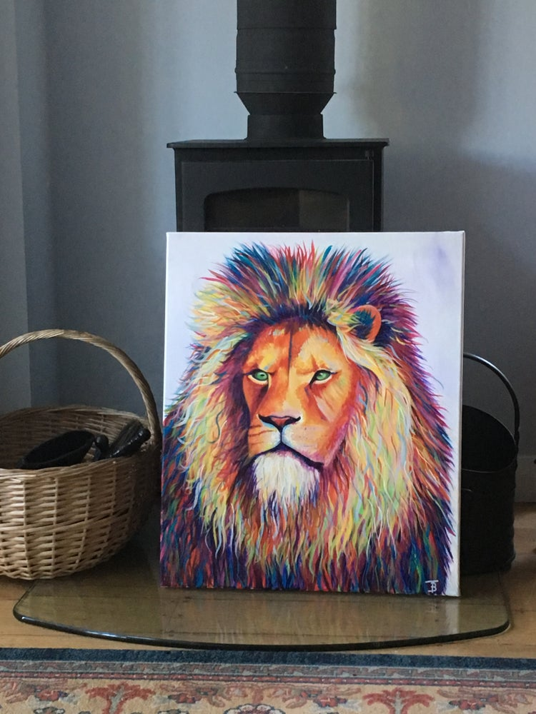 Image of Zulu- Rainbow Lion Print