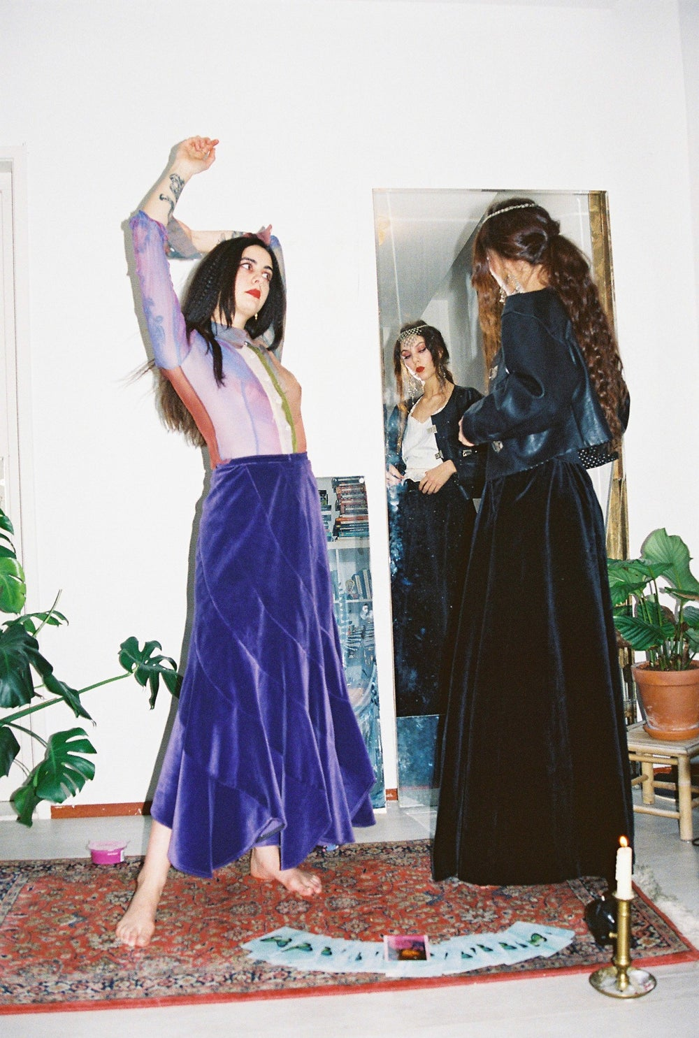Image of Purple Velvet Skirt