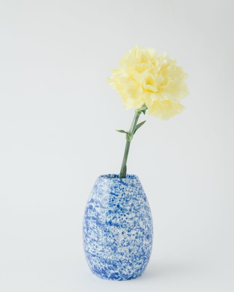 Image of Wazon chlapany na niebiesko / Vase