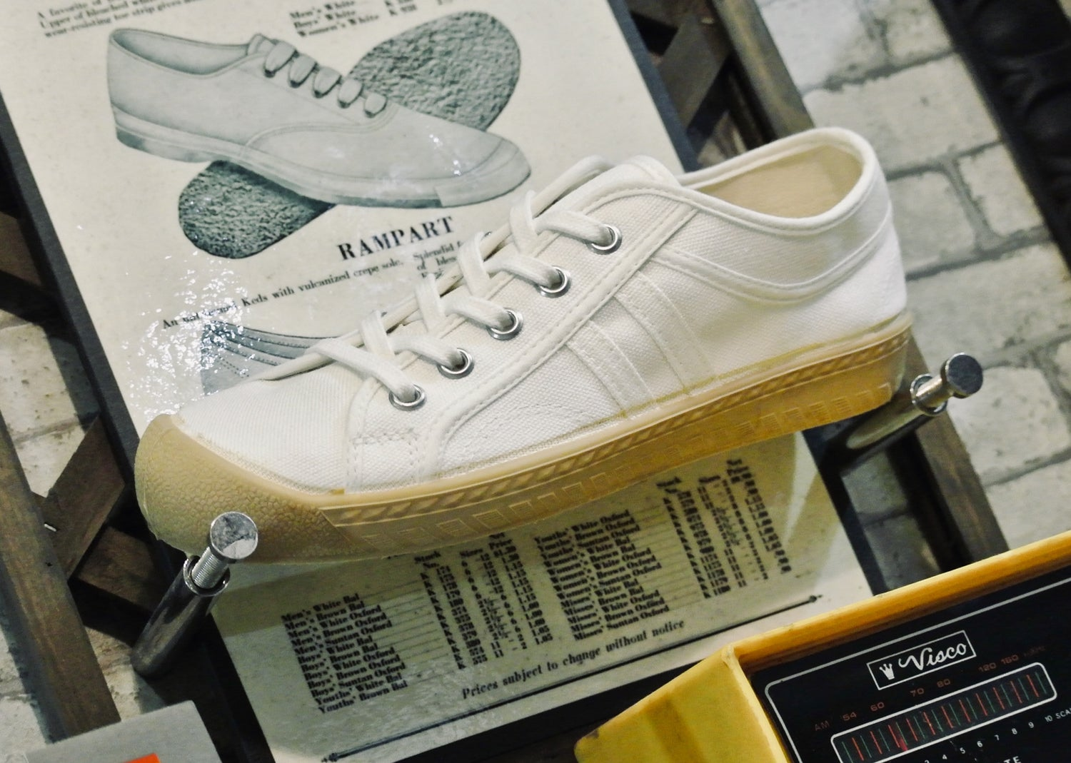 Image of Inn-stant white canvas gum sole lo sneaker shoes made in Slovakia