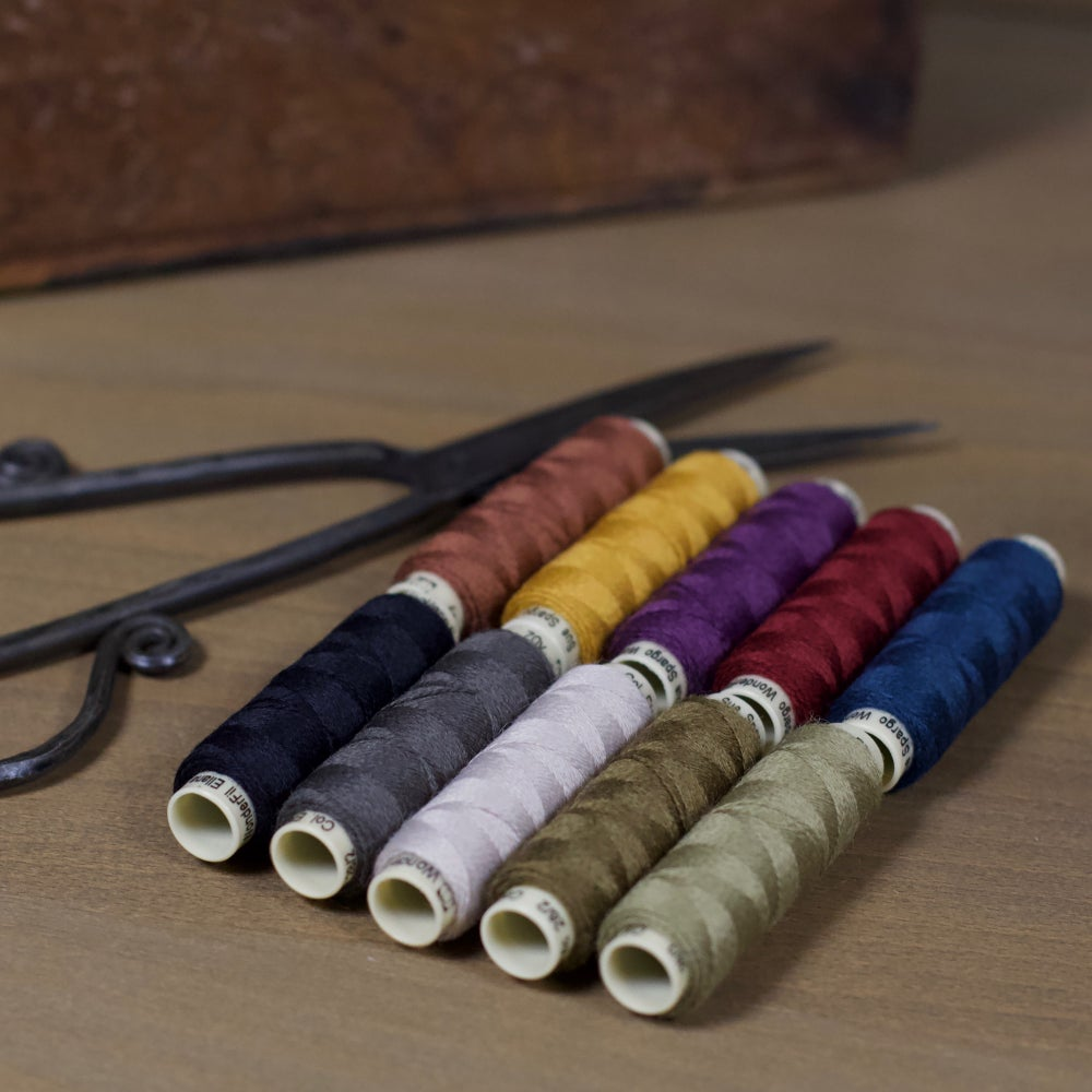 Image of Ellana Wool Thread for appliqué ~ 10 spools (70 yds. each)