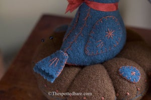 The Nested Bluebird ~ Wool & Bits Kit ~ From Rebekah & Kelsey Smith's New Book