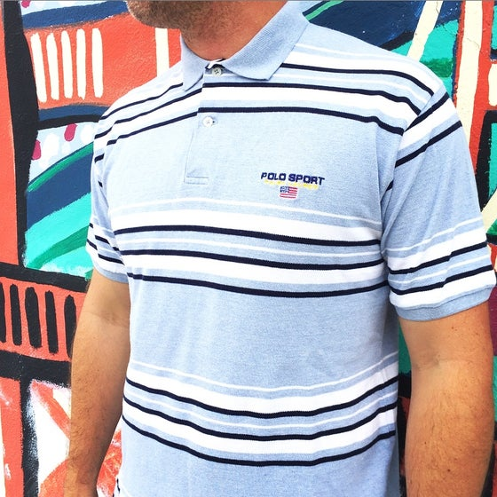 Image of Vintage 1990's Ralph Lauren Polo Sport Embroidered Collard Shirt Sz.XL (Youth)