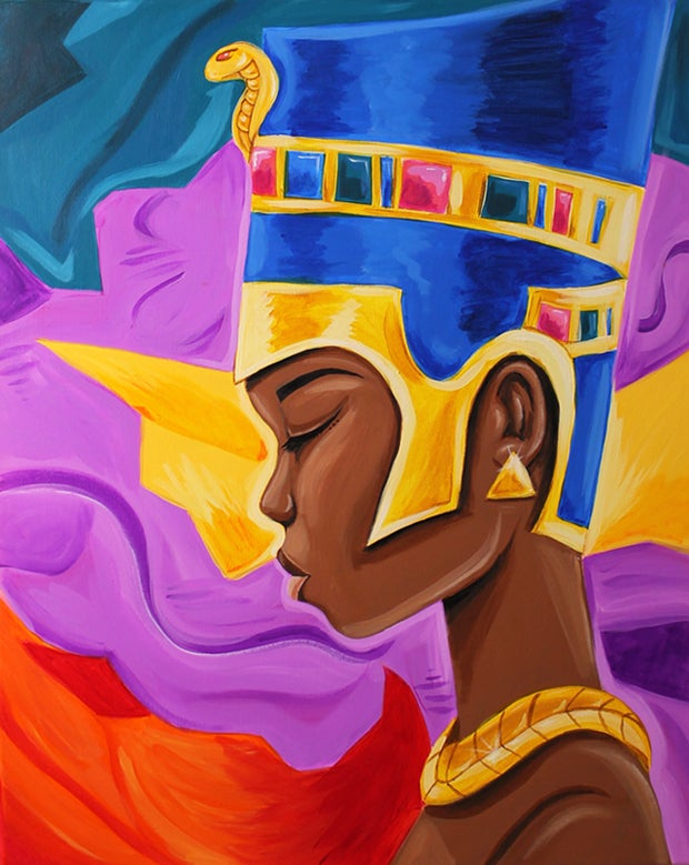 Image of Queen of Self (ACRYLIC PAINTING)
