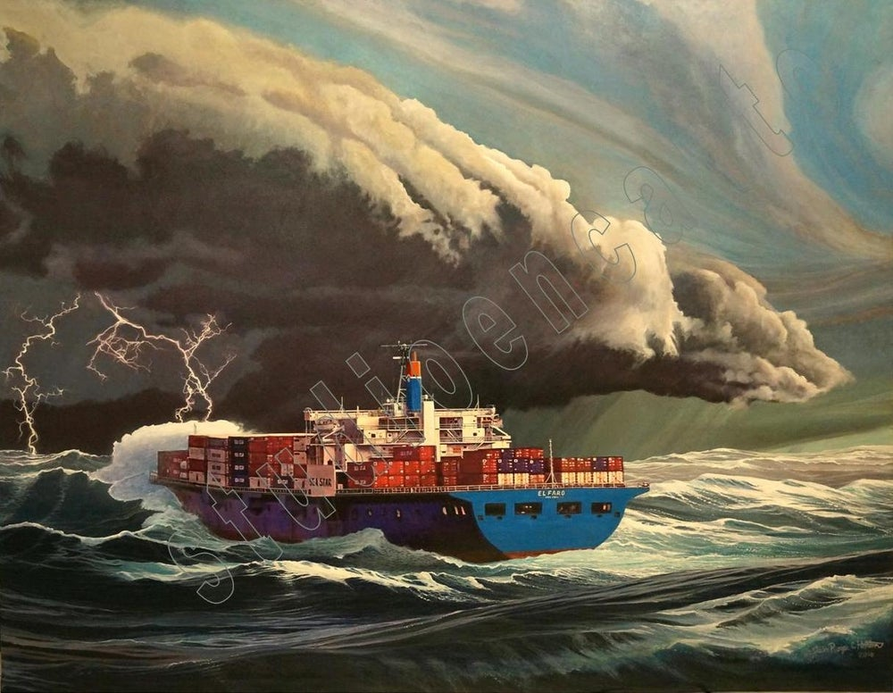 Image of El Faro's Last Sunset Canvas Print by Capt. Roger C. Horton