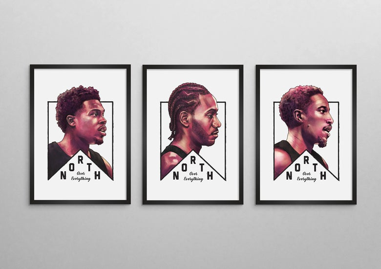 Image of Toronto Raptors | North Over Everything Series Set of three