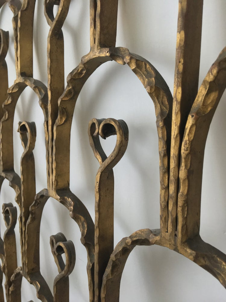 Image of Decorative Headboard with Heart-Shaped Details
