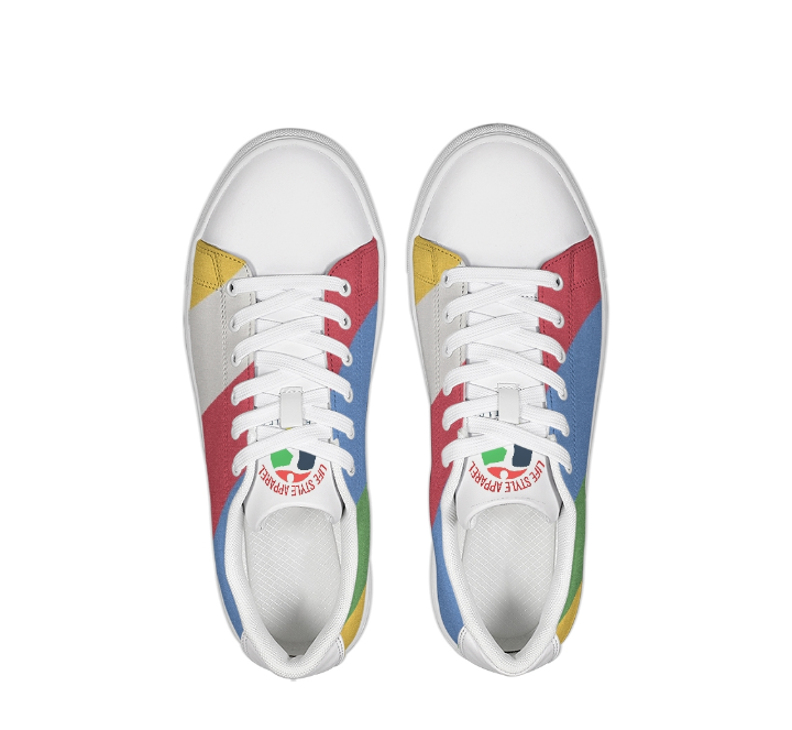 Image of NEW UNISEX LOW TOP LEATHER MULTI COLOR SNEAKER