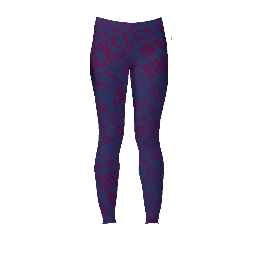 Image of Headlines Leggings Nvy/Burg