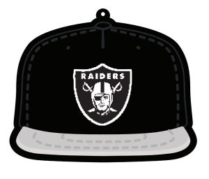 Image of Black & Silver Fitted