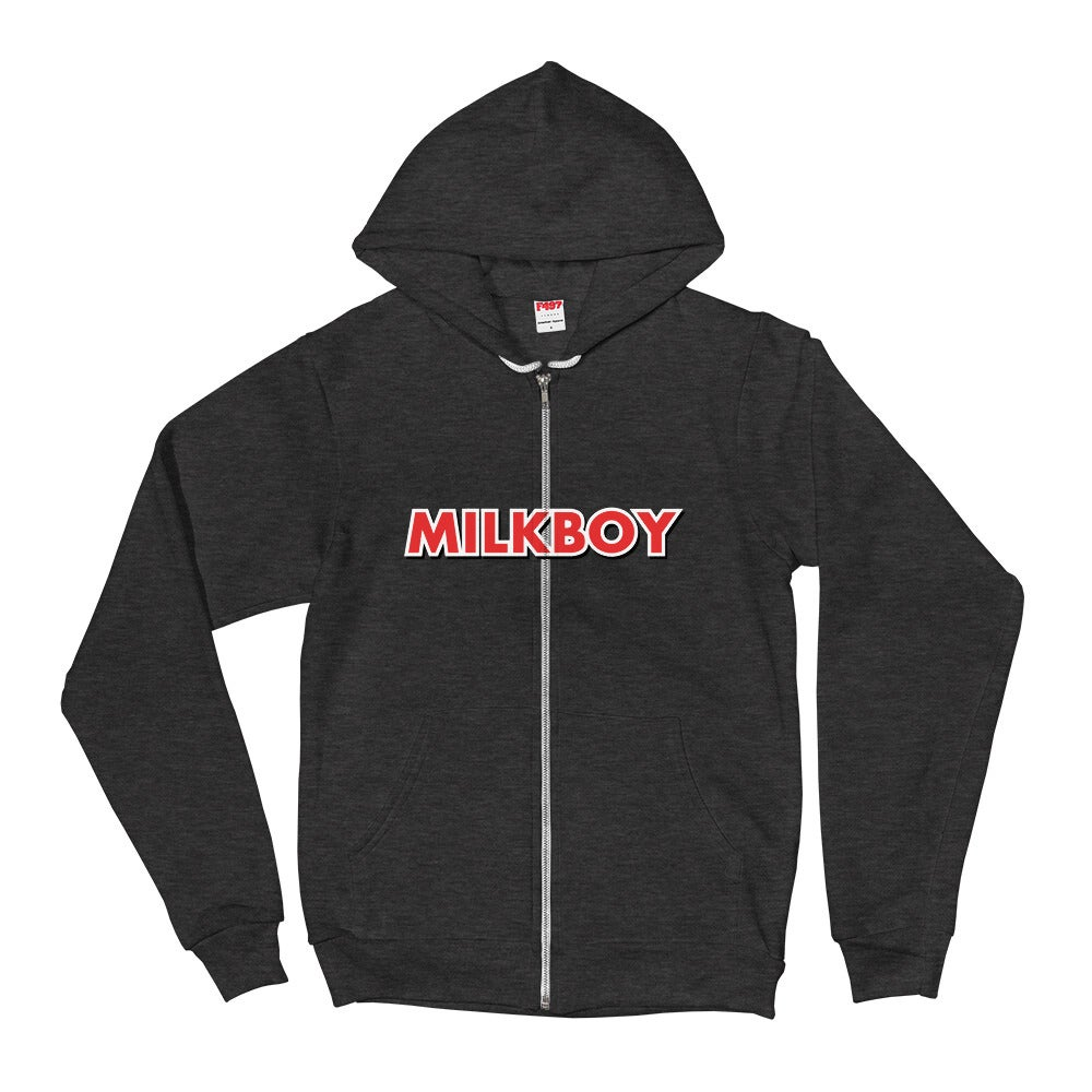 Image of MilkBoy Dark Heather Grey Etch Zip-Up