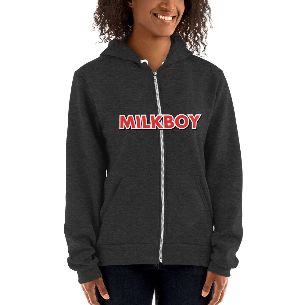 Image of MilkBoy Dark Heather Grey Etch Zip-Up