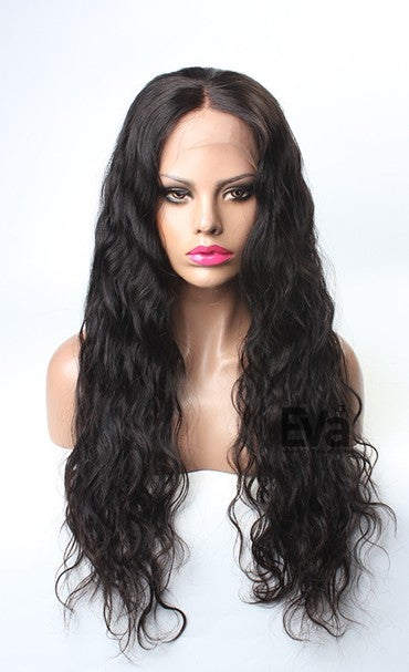 "Image of Brazilian Natural Wavy Full Lace Wig ""EVA"" (Length in Image 24inch)"
