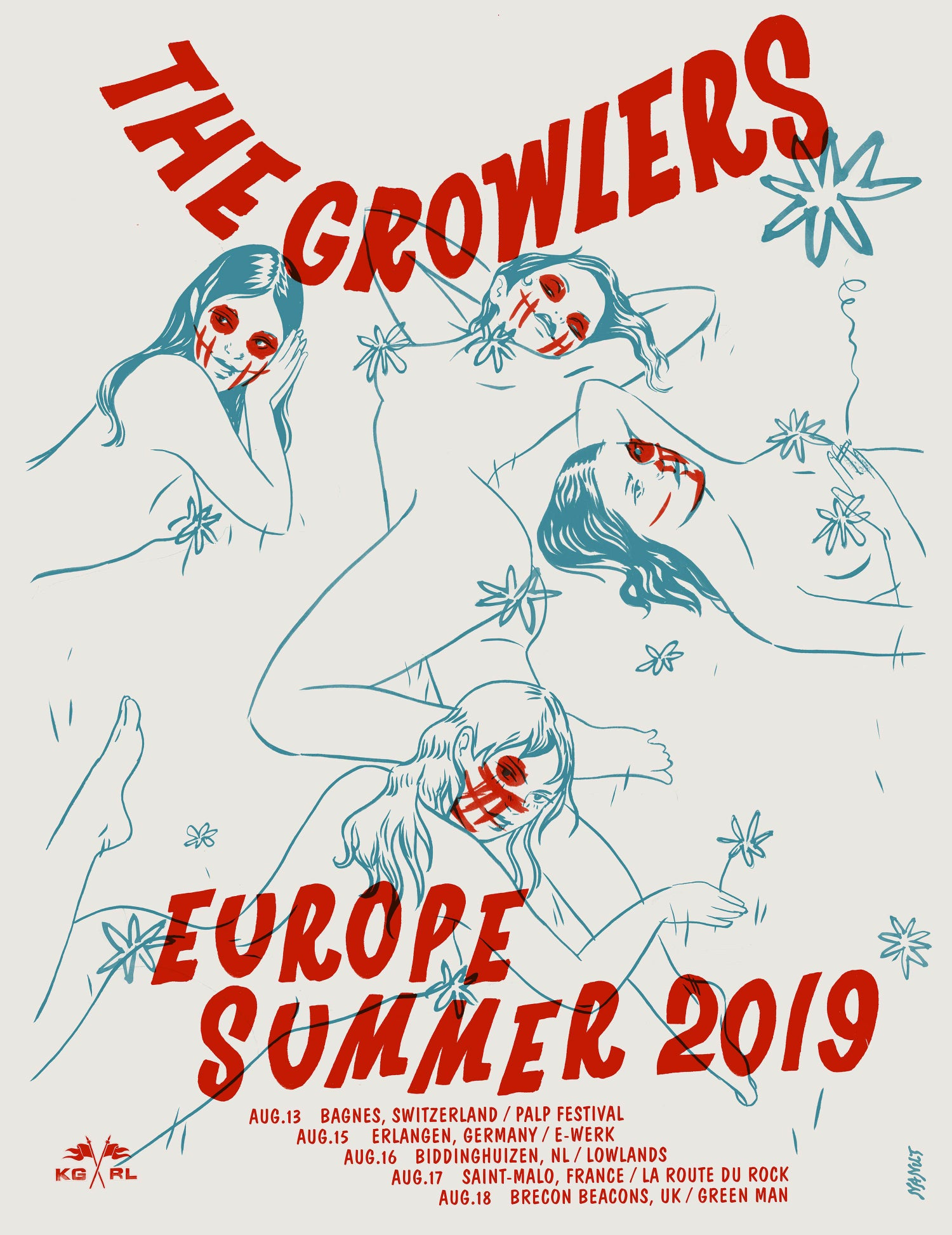 Image of The Growlers Europe Summer Tour Poster