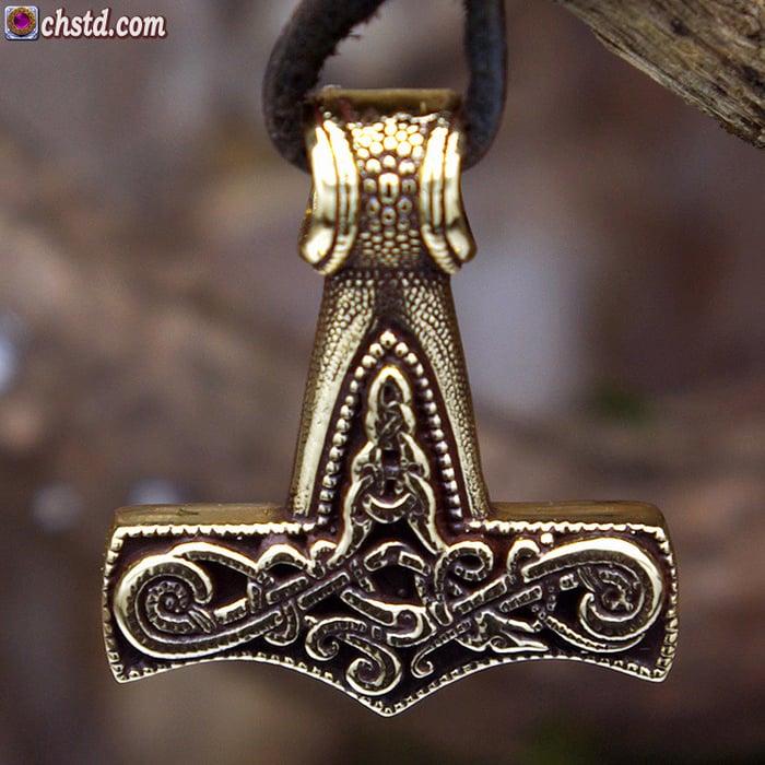 Mjolnir / mini - handmade, bronze