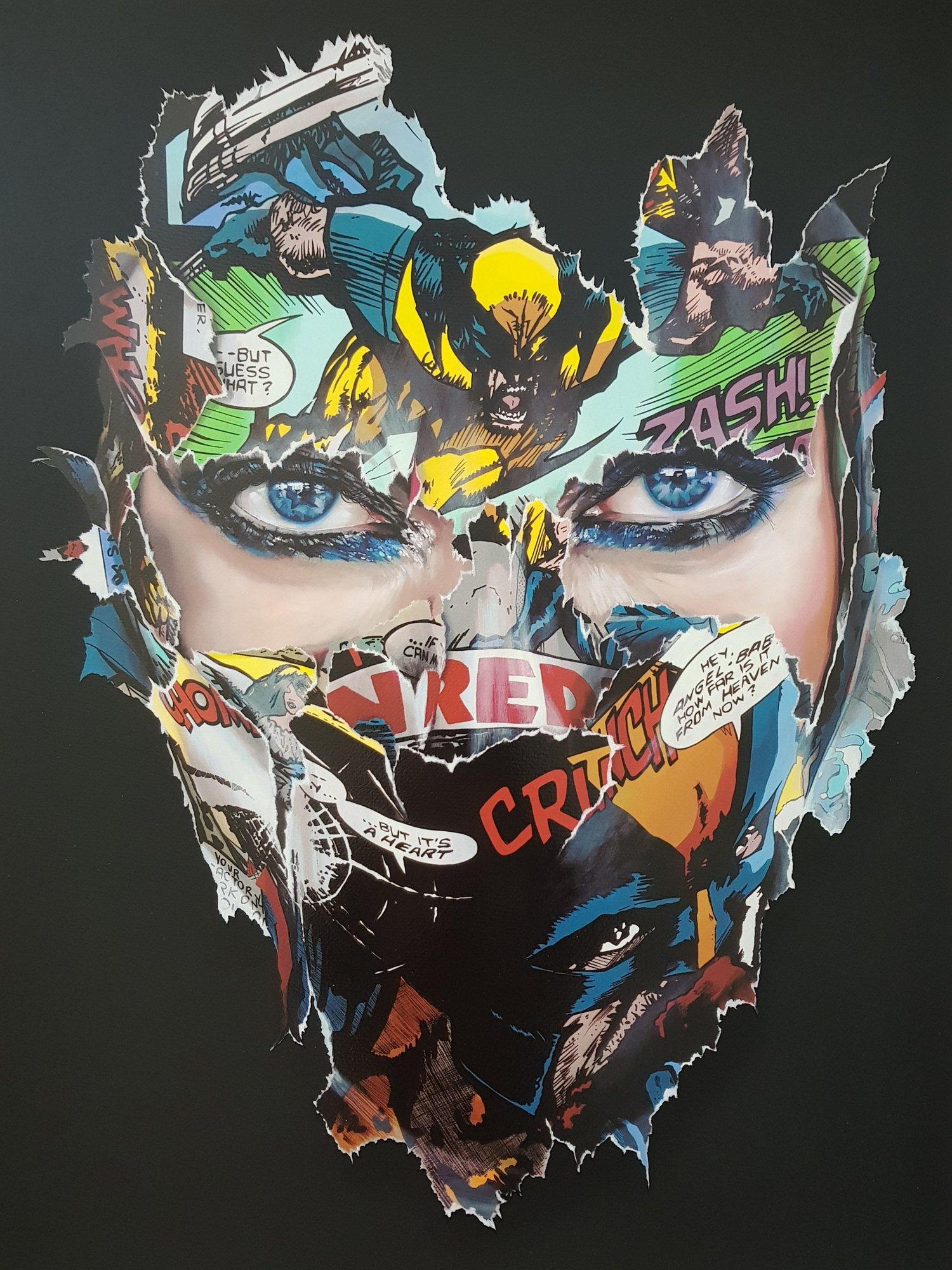 """Image of SANDRA CHEVRIER - LA CAGE ET LE COEUR DE LA BETE"""" - 25 COLOUR SCREENPRINT - 90CM X 69CM"""