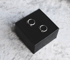 Image of Off limits hoop earrings (sterling silver)