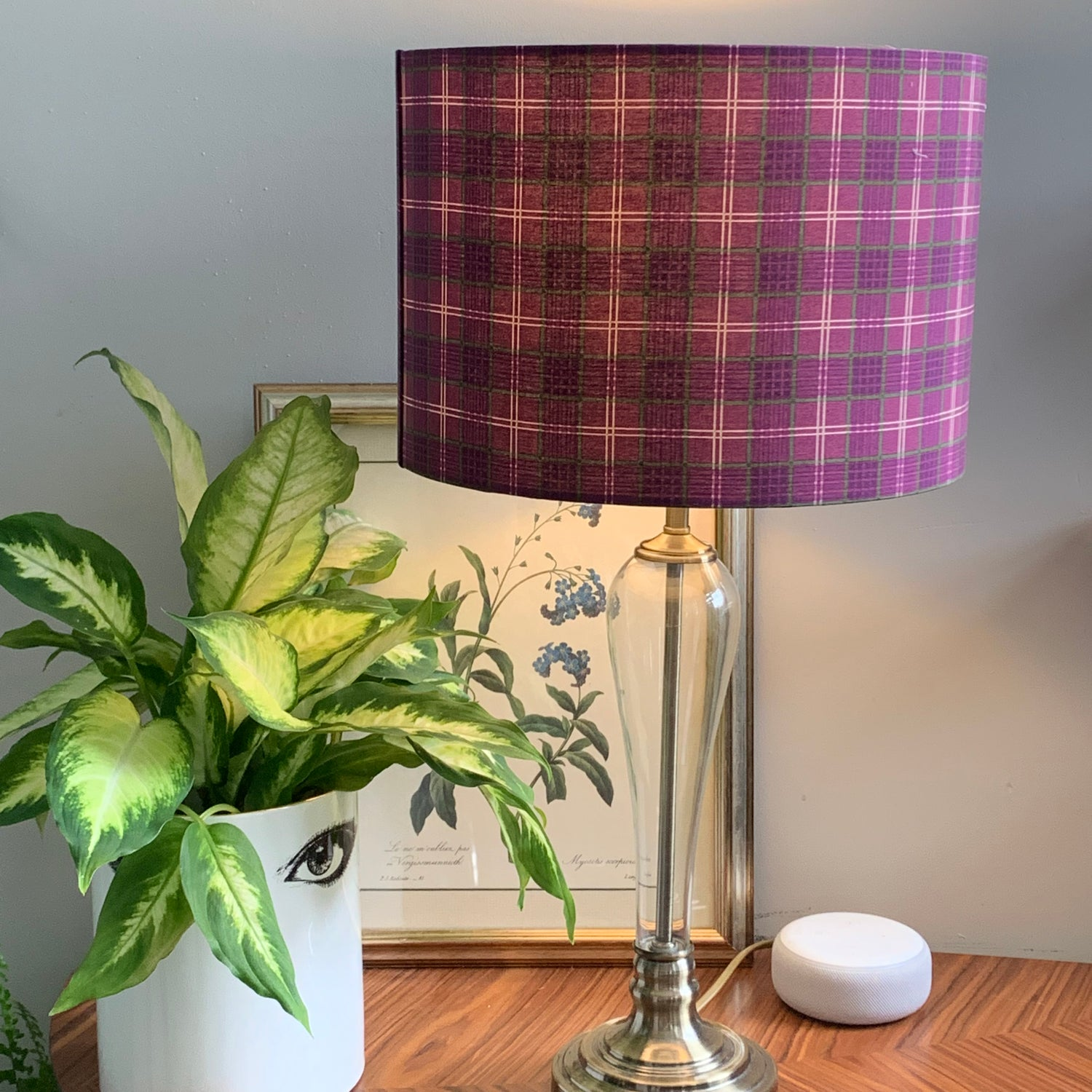 Image of Celtic Coorie Check Purple 30cm Shade