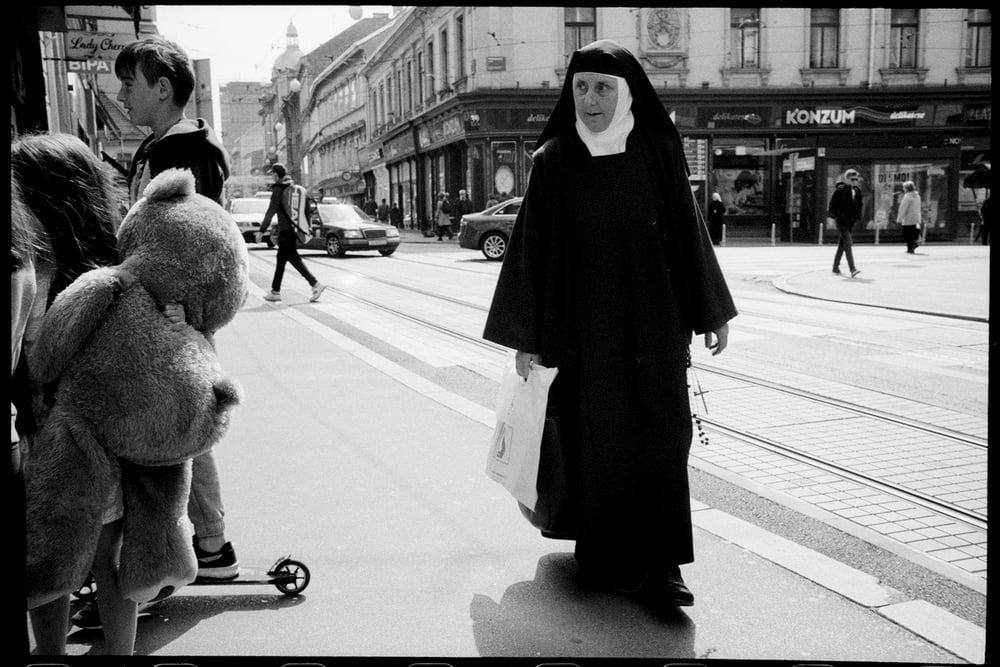Image of Nun & kids bear