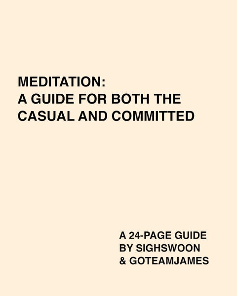 Image of PDF: MEDITATION - A GUIDE FOR BOTH THE CASUAL AND COMMITTED (PDF)