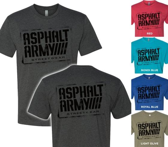 Image of AA Sprayed Logo-Next Level 6210 T-shirts