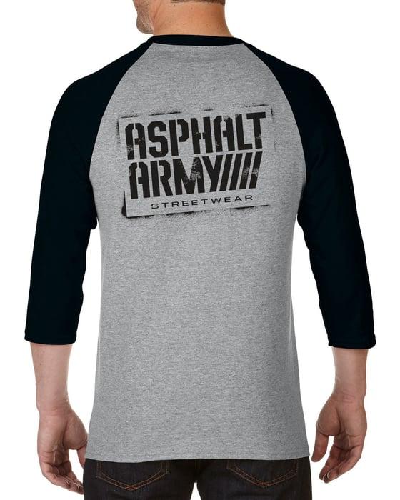 Image of AA Sprayed Logo-RAGLAN T-shirt