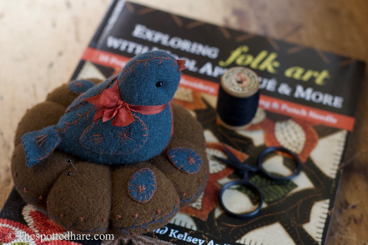Image of The Nested Bluebird ~ Wool & Bits Kit ~ From Rebekah & Kelsey Smith's New Wool Projects Book