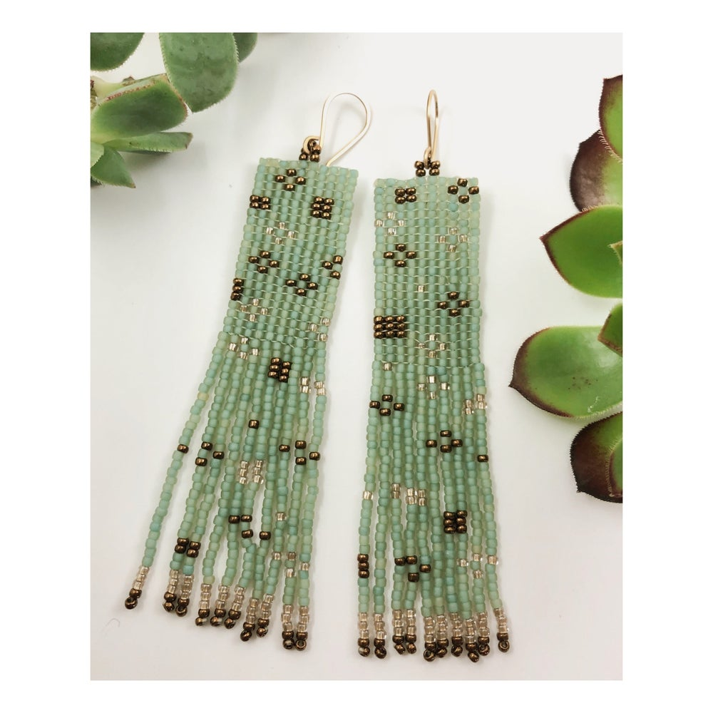 Image of Sea foam Floret Earrings