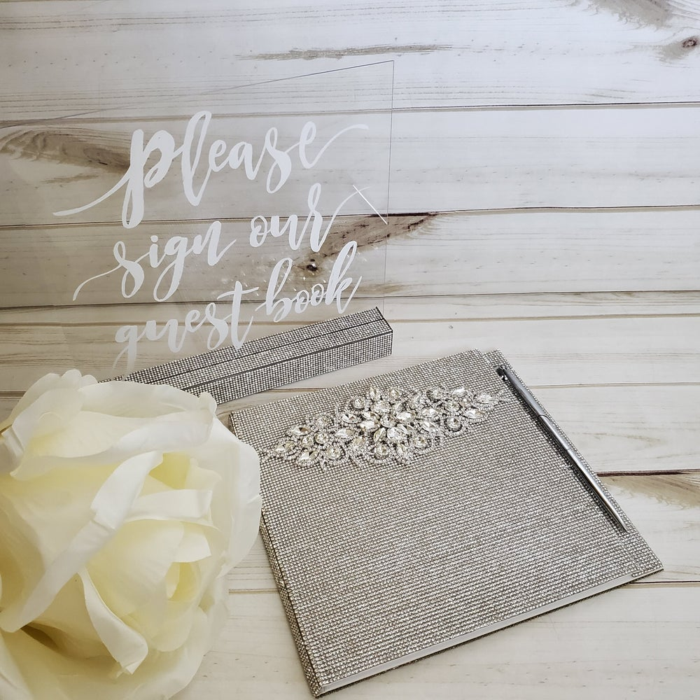 "Image of ""Beverly"" Blinged Guest Book (Available in Rose Gold)"