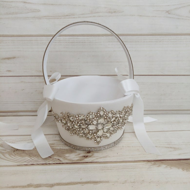 "Image of ""Moriah"" Flower Girl Basket"