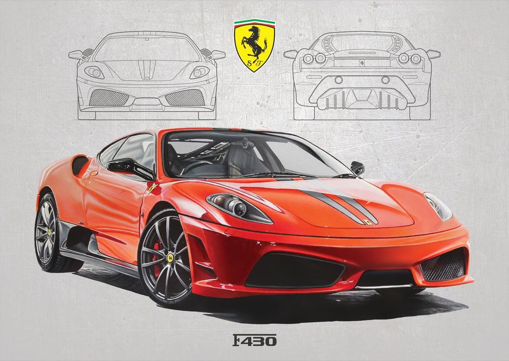 Image of Ferrari F430 Scuderia Poster Print